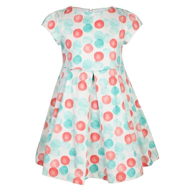 GIRLS LAKE DOTS DRESS - ruffntumblekids