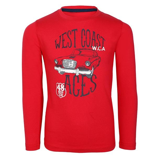 BOYS CORAL LONG SLEEVES GRAPHIC T-SHIRT - ruffntumblekids