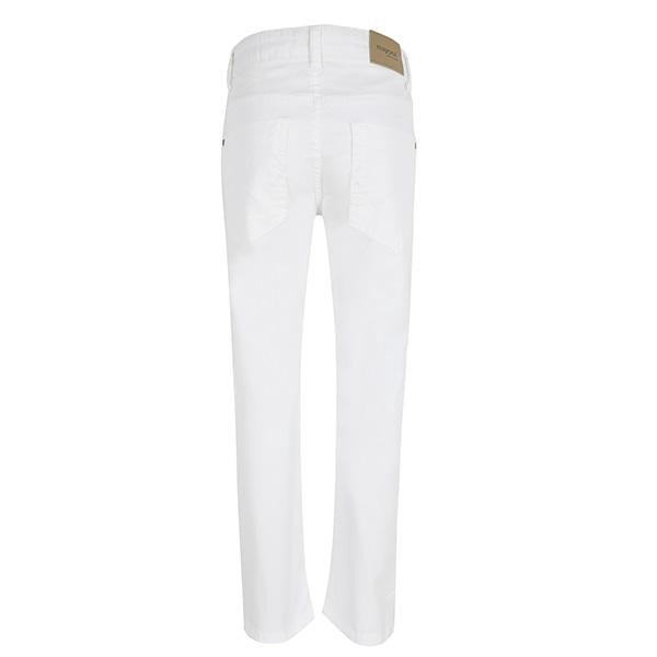BOYS WHITE SLIM FIT SERGE PANTS - ruffntumblekids