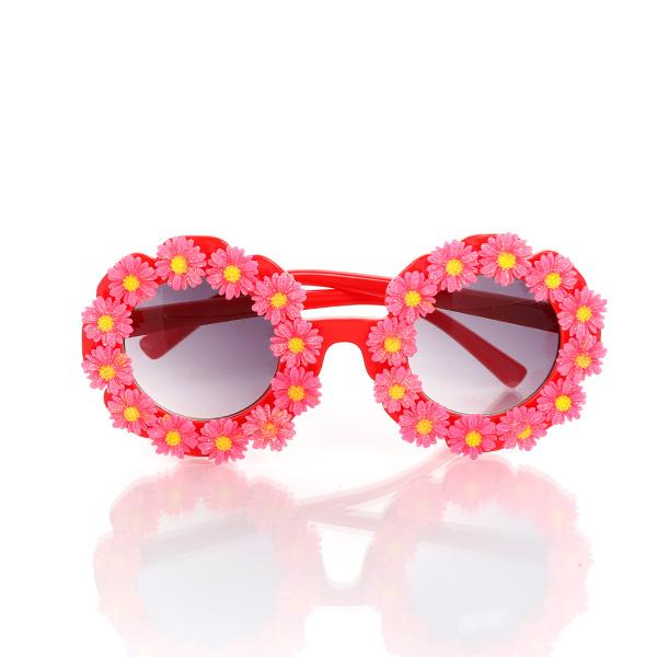 GIRLS RED AND PINK ROUND SUNGLASSES - ruffntumblekids