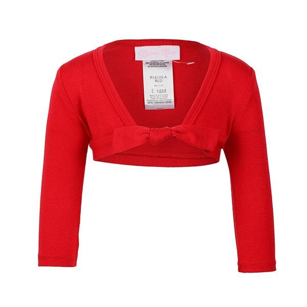 GIRLS RED B&J BOLERO - ruffntumblekids
