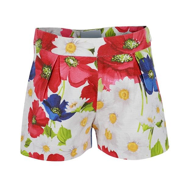 GIRLS MULTI COLOR PRINTED SHORT - ruffntumblekids