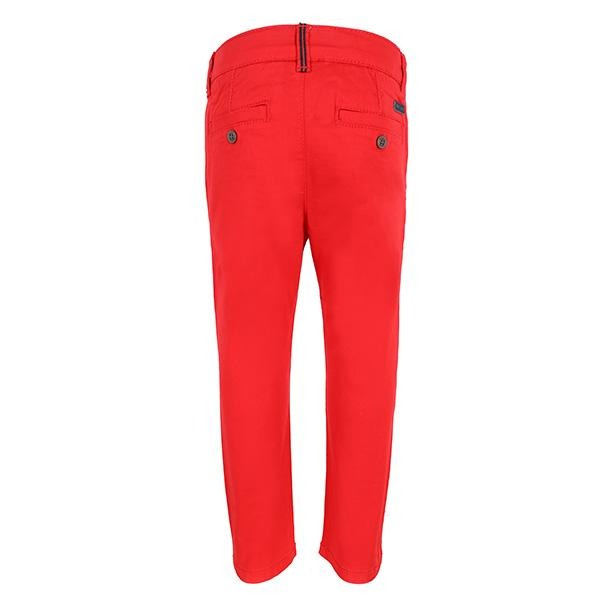 BABY BOYS RED TWILL BASIC TROUSERS - ruffntumblekids