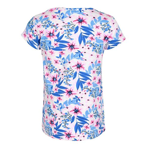 GIRLS MULTI COLOR SHORT SLEEVES FLORAL TOP - ruffntumblekids