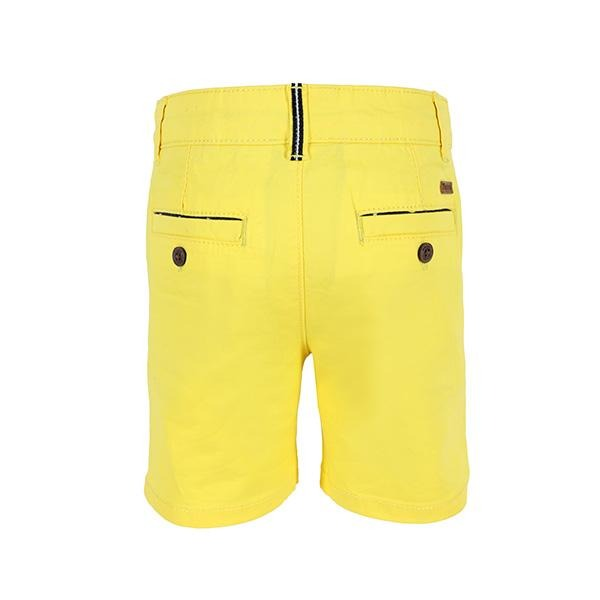 BABY BOYS YELLOW BASIC CHINO TWILL SHORT - ruffntumblekids