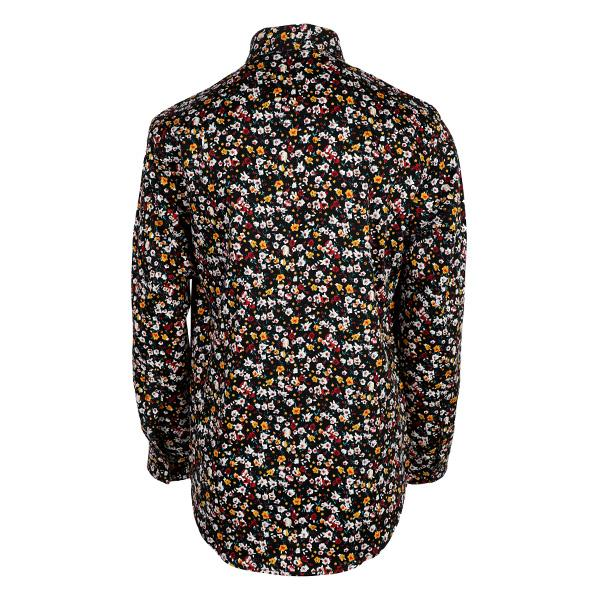 BOYS BLACK LONG SLEEVES FLORAL SHIRT - ruffntumblekids