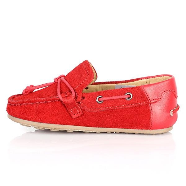 BOYS RED LEATHER MOCCASINS - ruffntumblekids