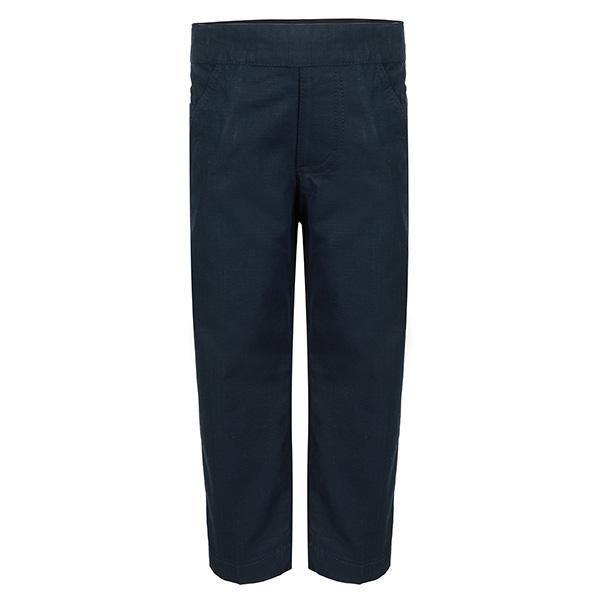 BOYS PLAIN NAVY BLUE TROUSER - ruffntumblekids