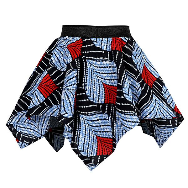 GIRLS MULTI ANKARA HANDKERCHIEF SKIRT - ruffntumblekids