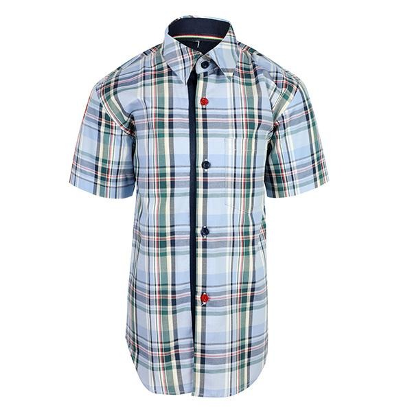 BOYS LIGHT PURPLE SHORT SLEEVES PLAID SHIRT - ruffntumblekids