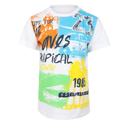 BOYS MULTI COLOR TROPICAL T-SHIRT - ruffntumblekids
