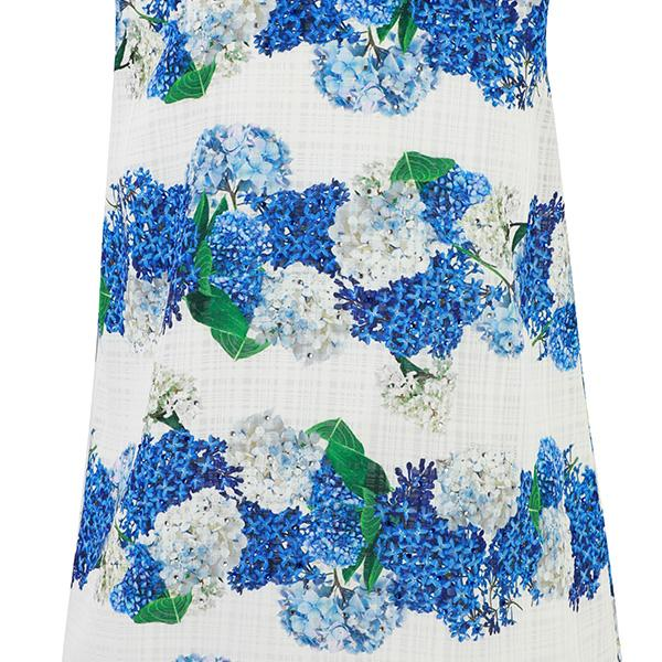 GIRLS BLUE A-LINE FLORAL DRESS