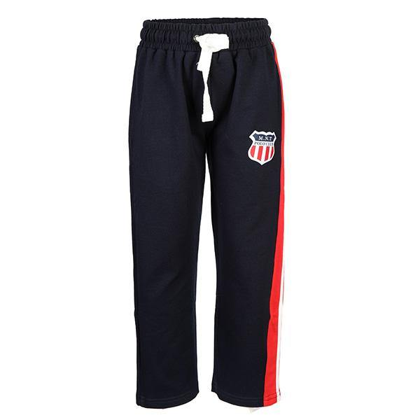 BOYS NAVY SIDE TAPE SLIM FIT JOGGER - ruffntumblekids