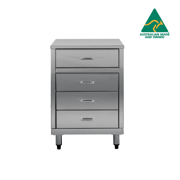 Stainless Steel 4 Drawer Cabinet