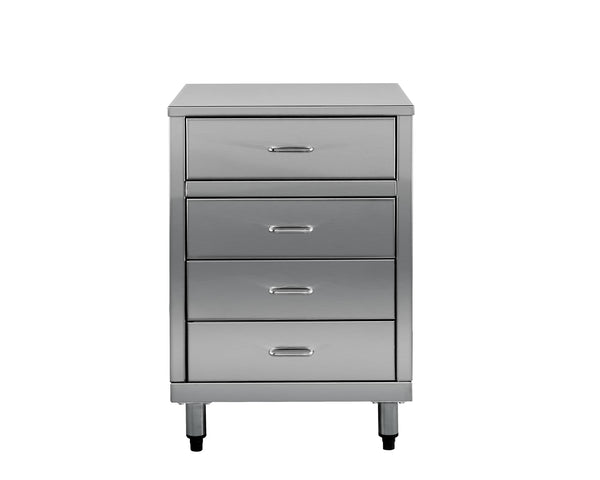 Stainless Steel 4 Drawer Cabinet - cronin-alfresco