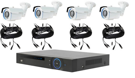 4 HD Varifocal Camera Security Package