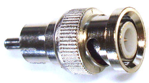 BNC Male to RCA Male Adapter