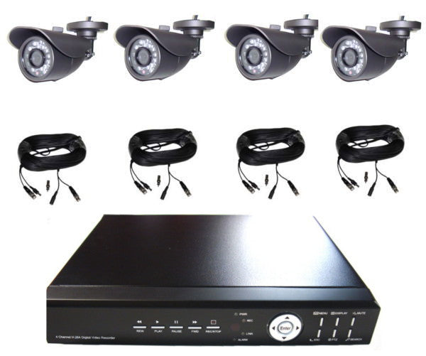 4 HD Fixed Lens Camera Security Package