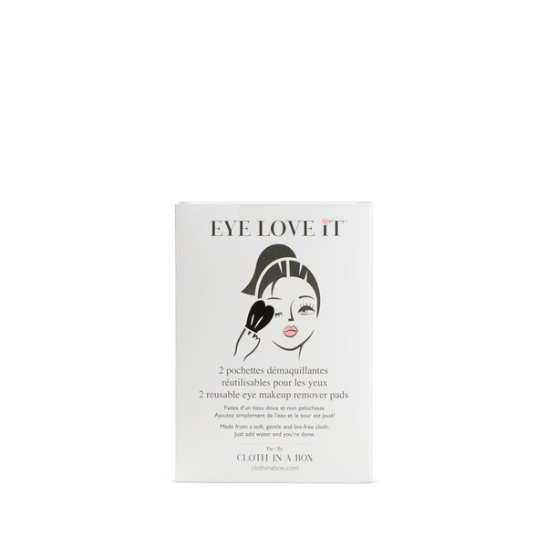 EYE LOVE IT | Cloth in a Box | Eye Make-up Remover Pads