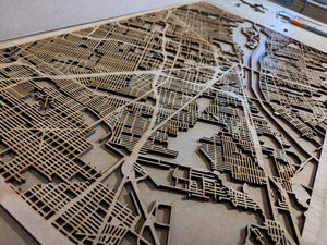 Personalized Laser Cut Map | Drag Map to Customize! - Silvan Art