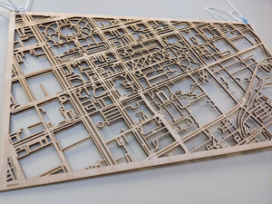 Chattanooga Tennessee - 3D Wooden Laser Cut Map | Unique Gift