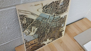 Lehigh University 3D Wooden Laser Cut Campus Map | Unique Gift