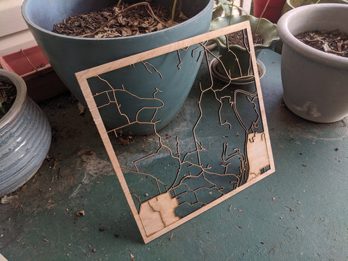 Athens, Alabama - 3D Wooden Laser Cut Map | Unique Gift