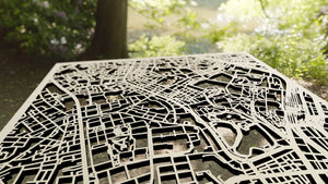 University of Tokyo 3D Wooden Laser Cut Campus Map