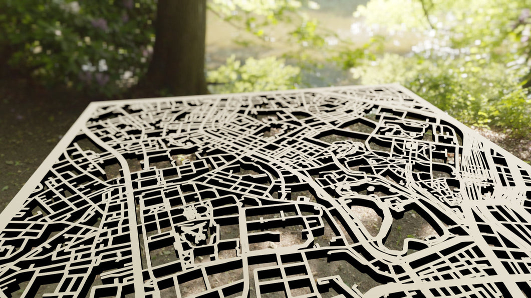 University of Tokyo 3D Wooden Laser Cut Campus Map - Silvan Art