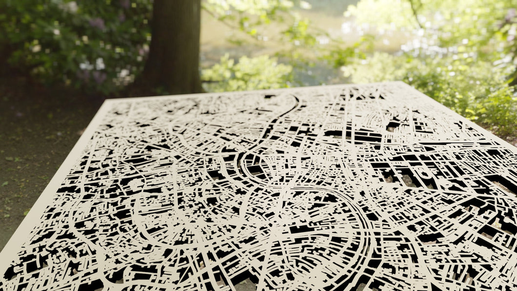 Bangkok, Thailand - 3D Wooden Laser Cut Map | Unique Gift