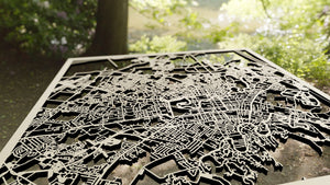 Christchurch New Zealand - 3D Wooden Laser Cut Map - Silvan Art