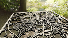 Load image into Gallery viewer, Wakefield England - 3D Wooden Laser Cut Map - Silvan Art