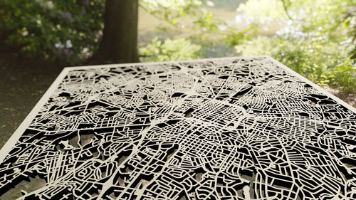 Charlotte, North Carolina - 3D Wooden Laser Cut Map | Unique Gift