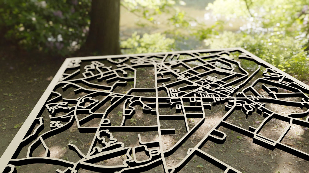 Dean College 3D Wooden Laser Cut Campus Map - Silvan Art