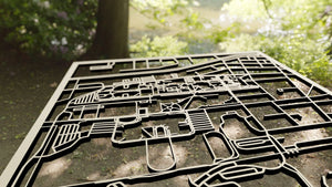The College at Brockport 3D Wooden Laser Cut Campus Map