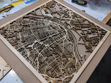Load image into Gallery viewer, St. Louis, Missouri - 3D Wooden Laser Cut Map
