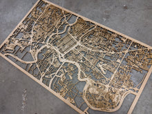 Load image into Gallery viewer, University of Bridgeport 3D Wooden Laser Cut Campus Map