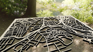 College of the Holy Cross 3D Wooden Laser Cut Campus Map | Unique Gift - Silvan Art