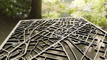 Load image into Gallery viewer, Clark University 3D Wooden Laser Cut Campus Map - Silvan Art