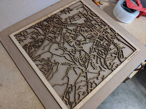 William & Mary  3D Wooden Laser Cut Campus Map | Unique Gift - Silvan Art