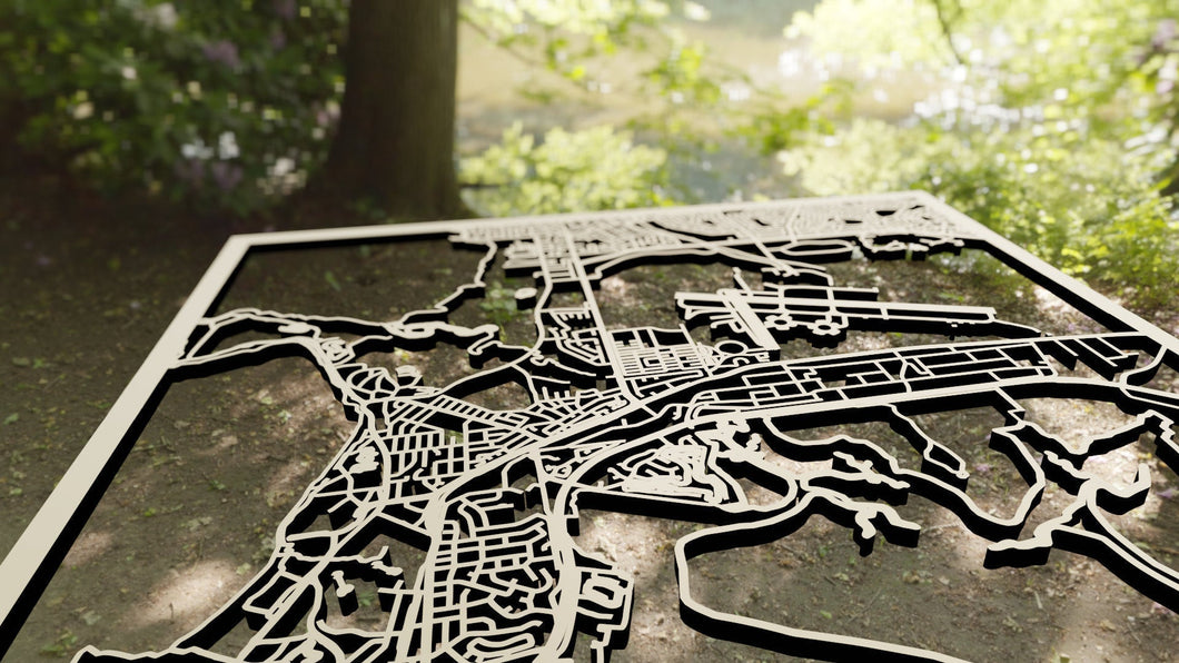Darwin Australia - 3D Wooden Laser Cut Map