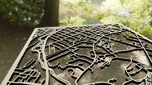 Curry College 3D Wooden Laser Cut Campus Map - Silvan Art