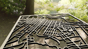 Clarion University of Pennsylvania 3D Wooden Laser Cut Map - Silvan Art