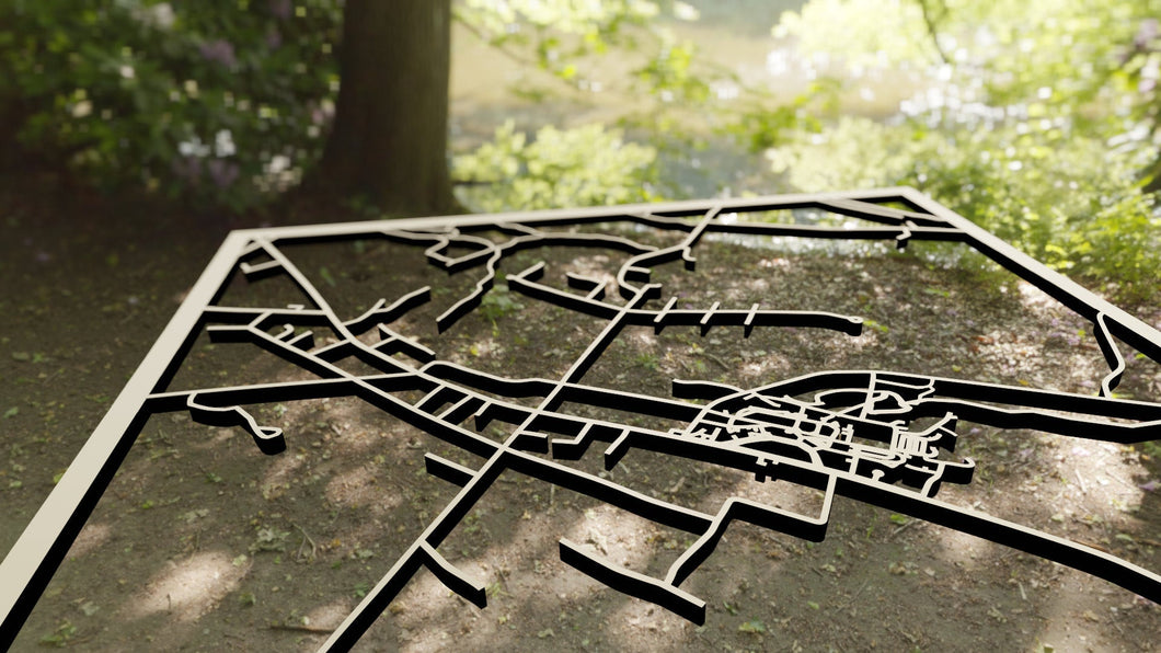 Colby-Sawer College 3D Wooden Laser Cut Campus Map