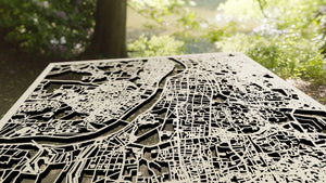 Kolkata India - 3D Wooden Laser Cut Map