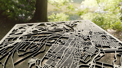 Jersey City, New Jersey - 3D Wooden Laser Cut Map | Unique Gift