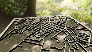 Centenary University 3D Wooden Laser Cut Campus Map | Unique Gift - Silvan Art