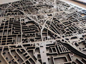 UW Stout | University of Wisconsin Stout in Menomonie WWI 3D Wooden Laser Cut Campus Map | Unique Gift