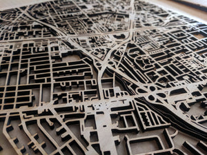 University of Louisiana at Lafayette in Lafayette LA 3D Wooden Laser Cut Campus Map | Unique Gift | Silvan Art