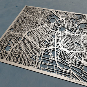 Los Angeles California - Wooden Street Map | 3D Laser Cut Map, Wooden Map Art, Map Wall Art, Personalized Map Gift, Minimalist Wall Art